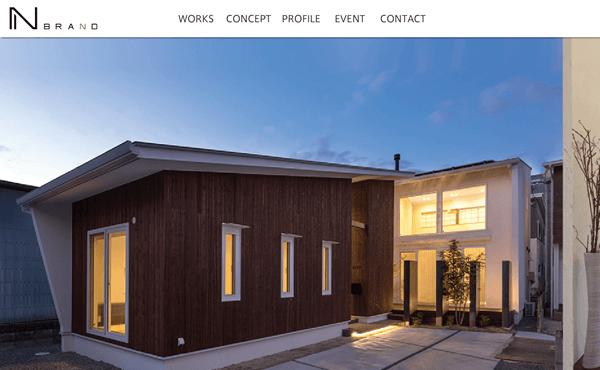 福山市 ナチュラルハウス一級建築士事務所NBRAND様 ホームページ制作