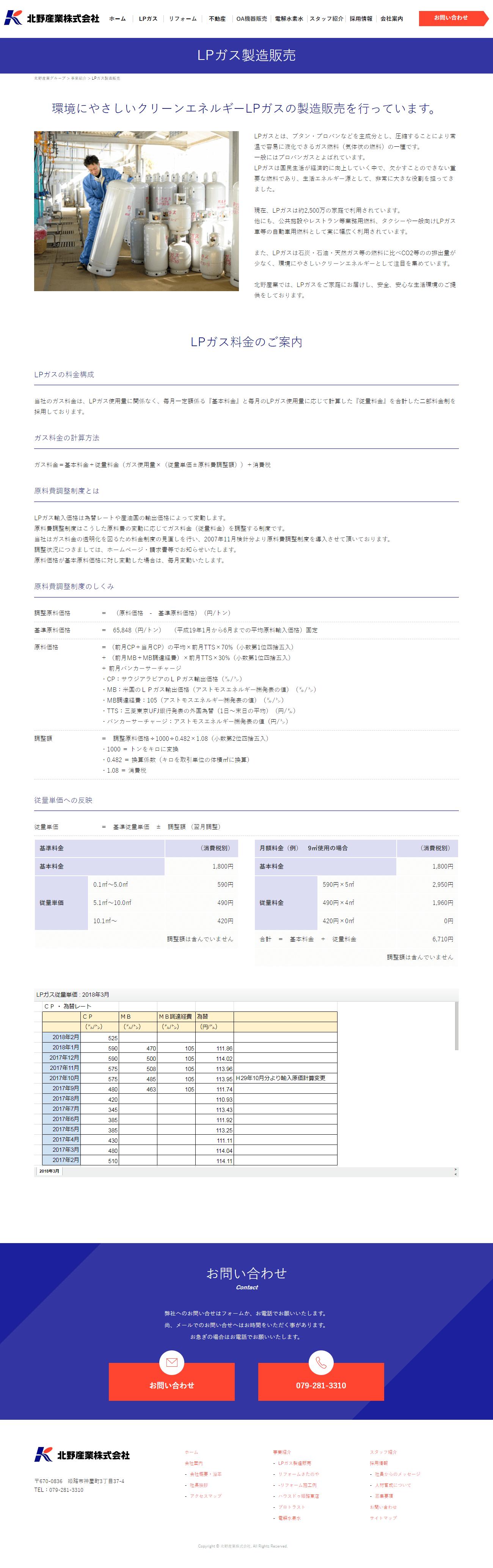 姫路市 北野産業株式会社様 ホームページ制作2