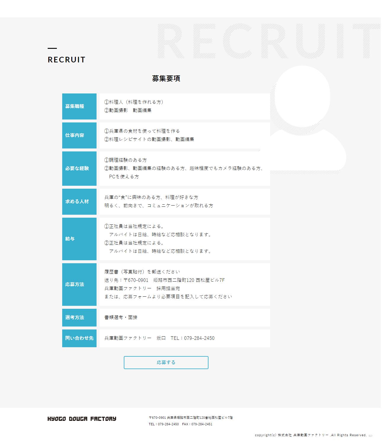 姫路市 株式会社兵庫動画ファクトリー ホームページ制作2