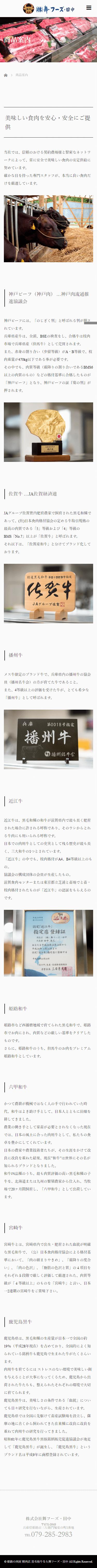 姫路市 株式会社舞フーズ・田中 ホームページ制作4