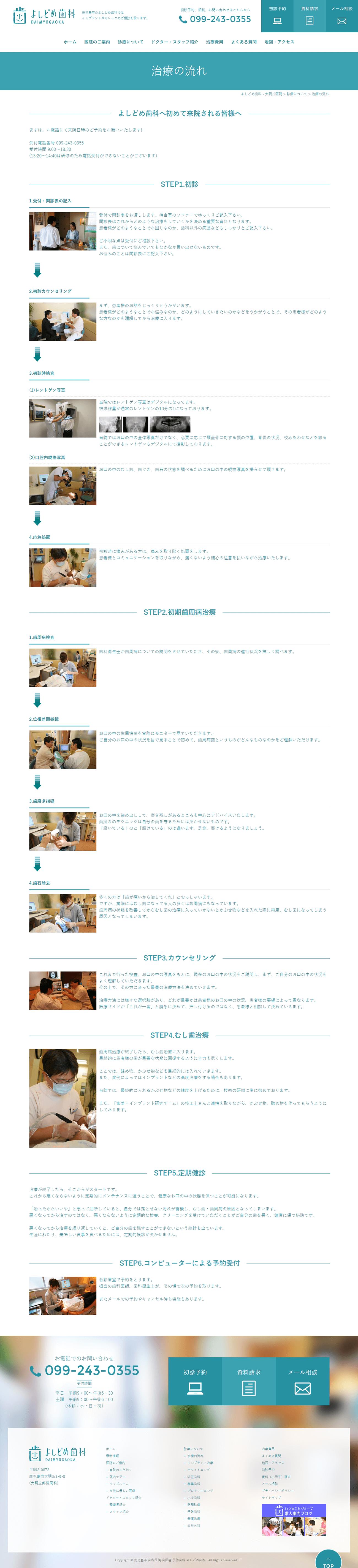 鹿児島市 よしどめ歯科 ホームページ制作2