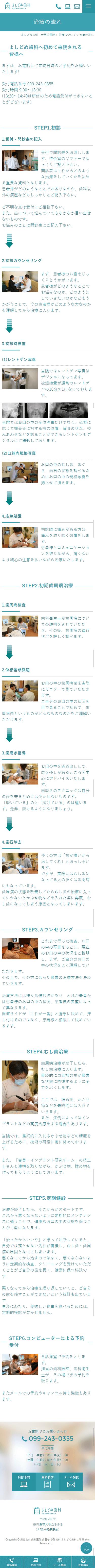 鹿児島市 よしどめ歯科 ホームページ制作4
