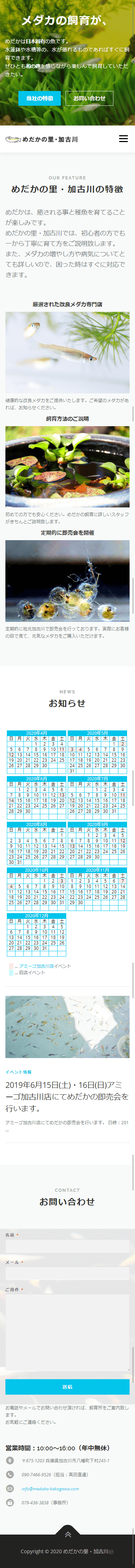 加古川市 めだかの里・加古川 ホームページ制作3