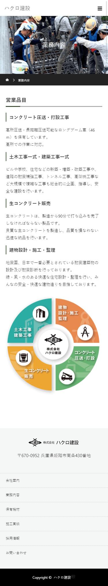 姫路市 株式会社ハクロ建設 ホームページ制作4